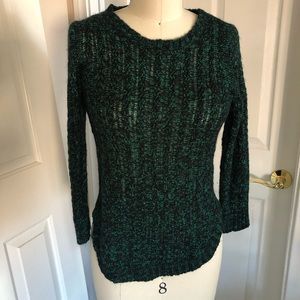 My collection size small green black knit sweater